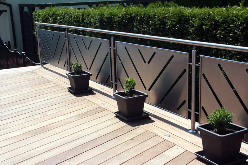 Terrassen geländer