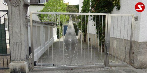 Edelstahl Einfahrtstor Nr. 15