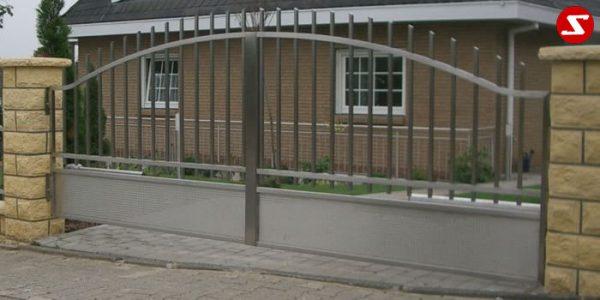 Edelstahl Einfahrtstor Nr. 11