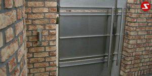 Edelstahl Tür Nr. 1