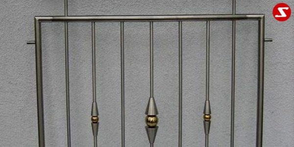 Edelstahl Zaun Nr. 10