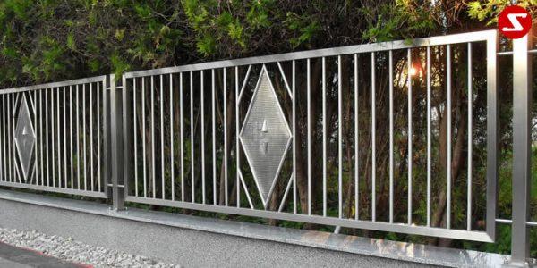 Edelstahl Zaun Nr. 11