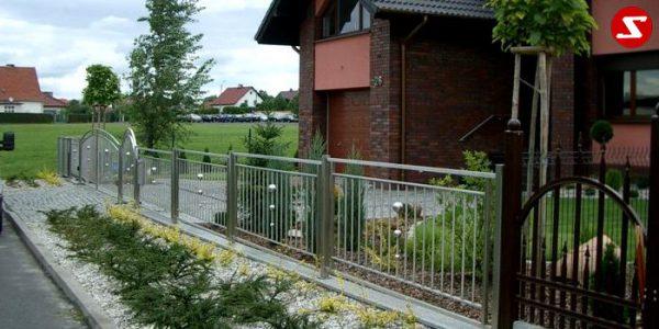 Edelstahl Zaun Nr. 3