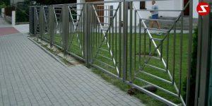 Edelstahl Zaun Nr. 4