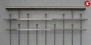 Edelstahl Zaun Nr. 5
