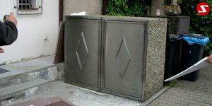 Müllbox Nr. 5 - Verkleidung