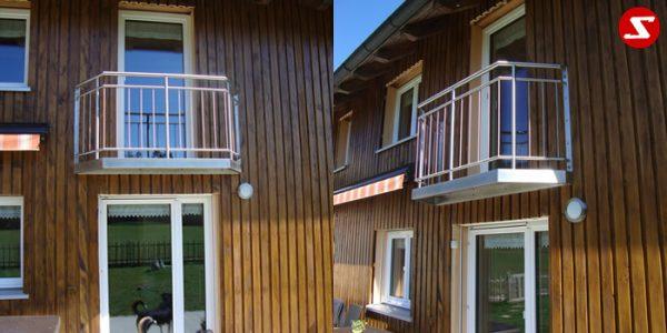 Französische Balkone sind eine Absturzsicherung. Unsere hoch qualitative französische Balkone kann man mit senkrechten Sprossen, vertikalen Reling bestellen. Bestellen Sie günstig und unkompliziert ihren französischen Balkon. Unsere französische Balkone sind zeitlos und pflegeleicht. Einfache Bestellung, Günstige Preise. Einfache Montage des franz. Balkons. Wir bieten wunderschöne französische Balkone als Absturzsicherung. Bestellen Sie günstig ihren Balkon aus Aluminium, Edelstahl-Niro oder Stahl. Bestellen Sie unkompliziert einen Modernen und praktischen franz. Balkon mit senkrechten, vertikalen Sprossen. Sehr eleganter, moderner und hoch qualitativer französische Balkongeländer gibt Ihrem Haus ein wunderschönes Design. Höchste Qualität. Einfache Bestellung und schnelle Abwicklung. Faire Preise. Produktion nach Kundenwunsch und Maß. Französischer Balkon mit senkrechten, Sprossen, vertikalem Reling, Draht aus Edelstahl, Stahl verzinkt oder Aluminium. Höchste Qualität. Faire, günstige Preise. Einfache Abwicklung. Geländer für Balkone, Terrassen mit waagrechten Sprossen. Produktion nach Kundenwunsch und nach Maß. Französischer Balkon Nr. SS14 Begehbar#2