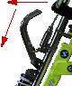 """Stalmach schlepplift-quan-1. Der Snowbike """"Quan"""" für Personen mit Behinderung ist höhenverstellbar. Der Spezial Snowbike ist für Menschen mit Handicap bestens  geeignet. Der Skibob ist für Skibike Anfänger und Snowbike Fortgeschrittenen entwickelt.  Der Skibob """"Quan"""" ist der beste, spezielle  Skibob, Snowbike, Skibike für Personen mit Handicap um den Wintersport zu erleben.  Snowbike """"Quan"""" hat sehr viele Einstellungssysteme wie; Sitzverstellbar nach vorne und hinten sowie nach oben und unten. Skineigung ist bei diesem Snowbike einstellbar. Dieser Snowbike hat sehr gute Gas-Stoßdämpfer die beliebig eingestellt werden können. Der Skibike Lenker aus Aluminium ist einstellbar. Die Snowbike Carving Ski haben eine Bindung namens Schnellverschlussplatten. Dieser Snowbike ist aus Edelstahl und Aluminium gebaut. Dieses Wintersportgerät ist perfekt für Menschen mit Behinderung. Viele Personen mit Handicap lernen und fahren diesen Snowbike. Mit dem Skibike Quan ist der Wintersport Barrierefrei. Skibobfahren lernen bei der Skibob Schule Stalmach in Saalfelden, Österreich, Pinzgau"""